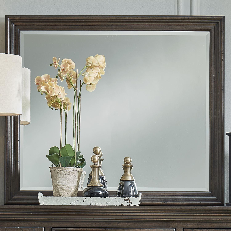 Relaxed Vintage Beveled Glass Dresser Mirror