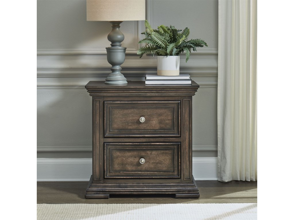 Liberty Furniture Big Valley2-Drawer Night Stand with Charging Station