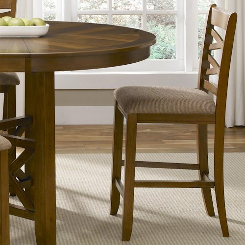 Applewood double x back counter height chair with for Furniture 0 percent financing