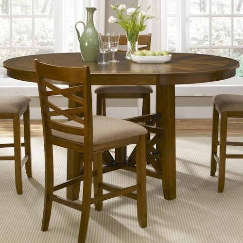 Liberty Furniture Applewood Gathering Height Pub Table with Butterfly Leaf