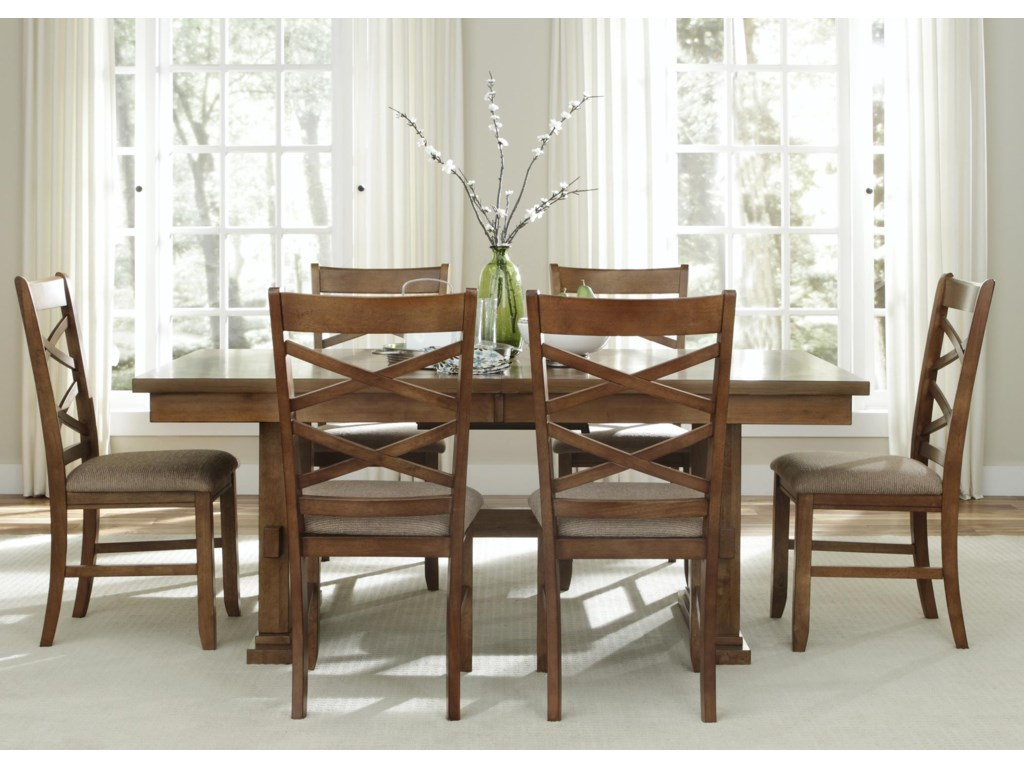 Shown with Double X-Back Side Chairs