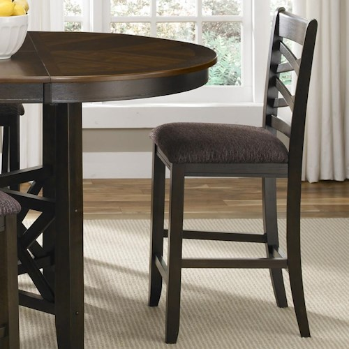 Liberty Furniture Bistro II Double X-Back Counter Height Chair with Upholstered Seat