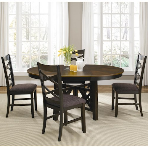 Liberty Furniture Bistro II Five Piece Oval Table and Side Chair Dining Set
