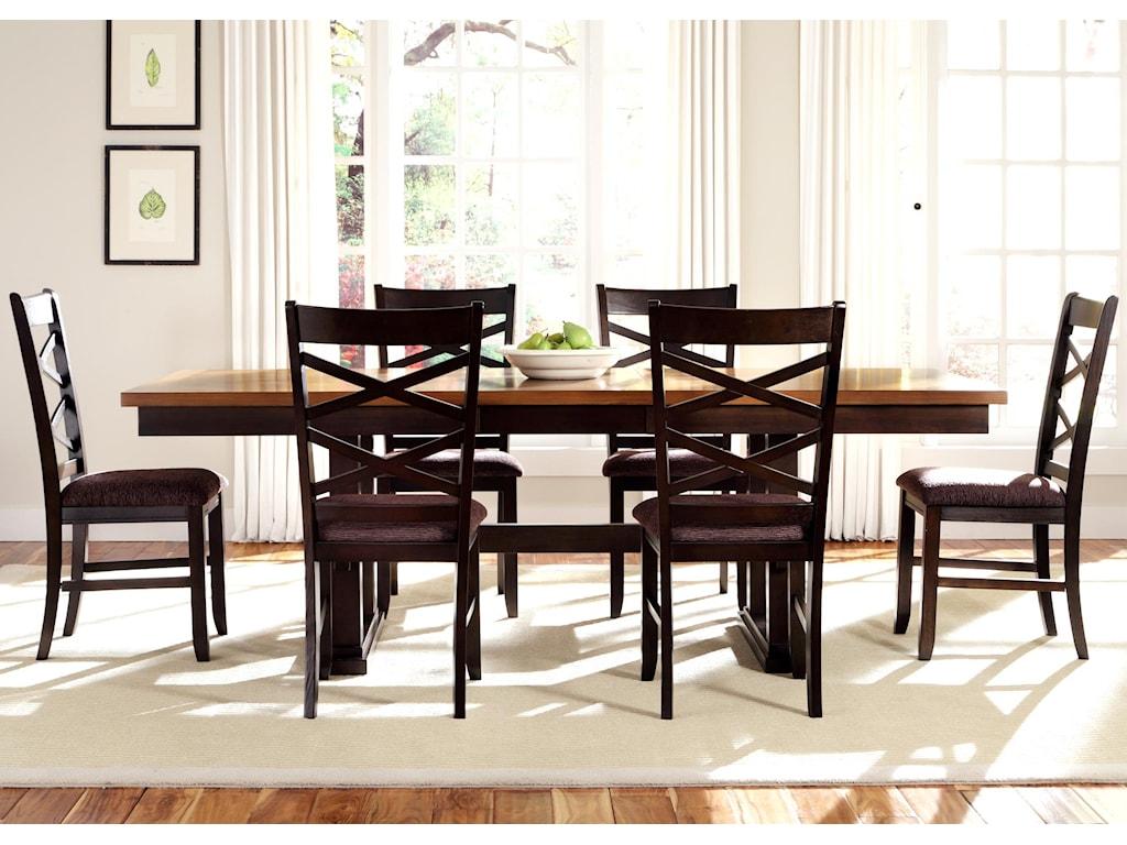 Liberty Furniture Bistro II7 Piece Trestle Table Set