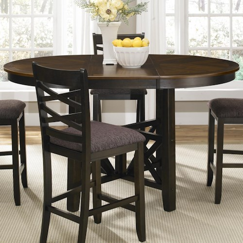 Liberty Furniture Bistro II Gathering Height Pub Table with Butterfly Leaf
