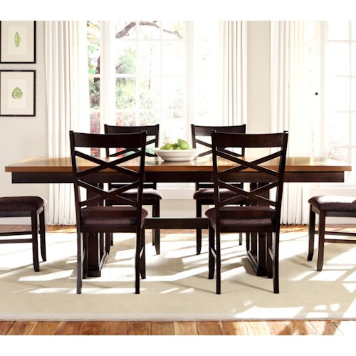 Liberty Furniture Bistro II Rectangular Trestle Dining Table