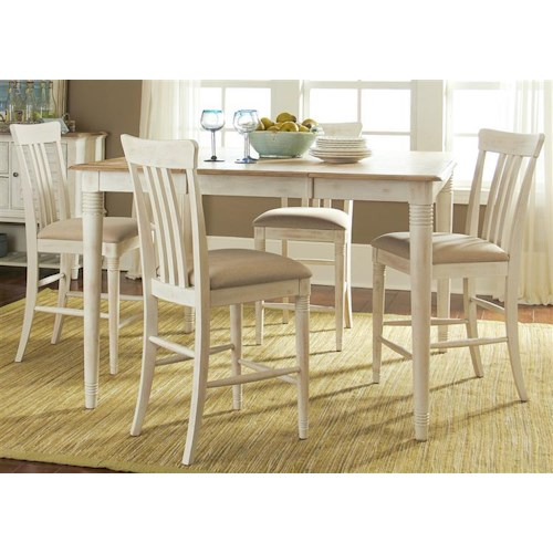 Liberty Furniture Bluff Cove Gathering Height Table and Chair Set