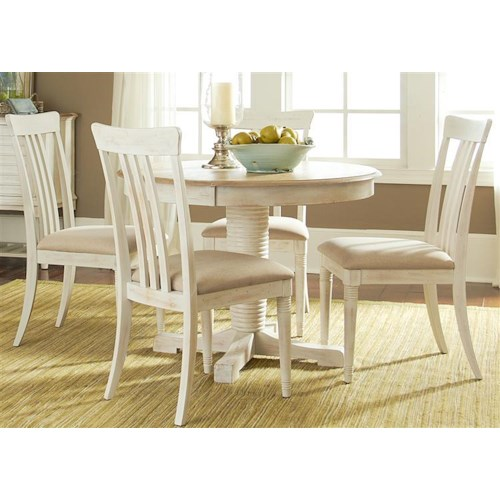 Liberty Furniture Bluff Cove Small Casual Dining Table and Chair Set