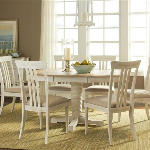 Liberty Furniture Bluff Cove Large Casual Dining Table and Chair Set