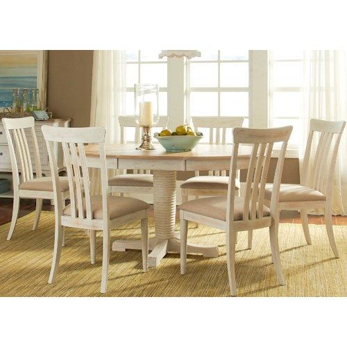 Liberty Furniture Point West 7 Piece Oval Table Set