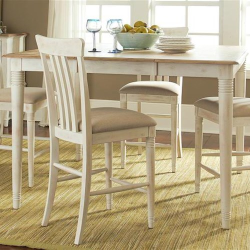 Liberty Furniture Bluff Cove Coastal Leg Gathering Table