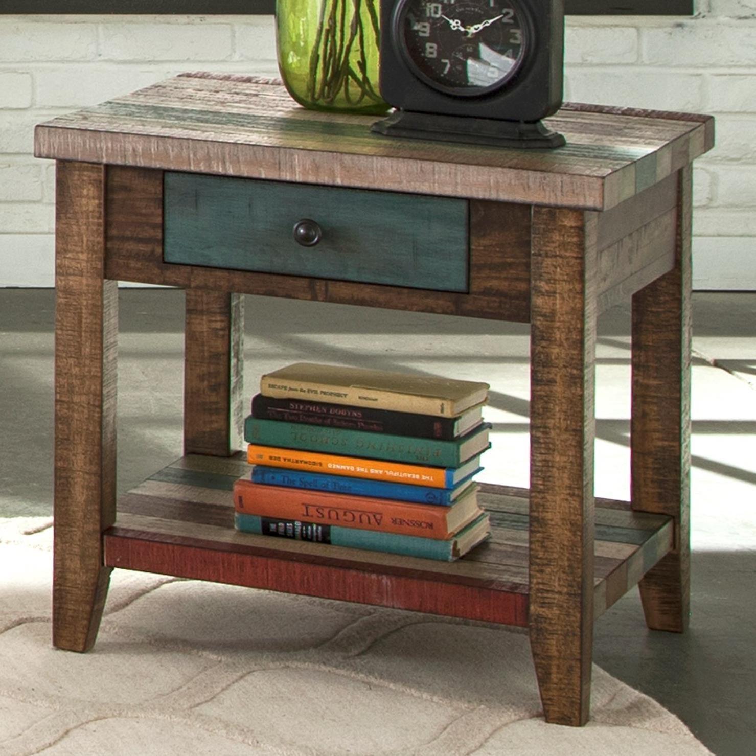 Liberty Furniture Boho Loft One Drawer End Table With Shelf