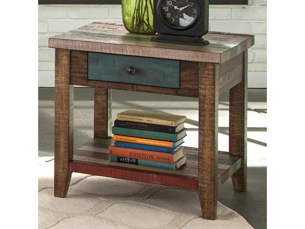 Liberty Furniture Boho LoftOne Drawer End Table