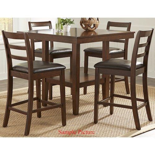 Liberty Furniture Bradshaw Casual Dining 5 Piece Gathering Table Set