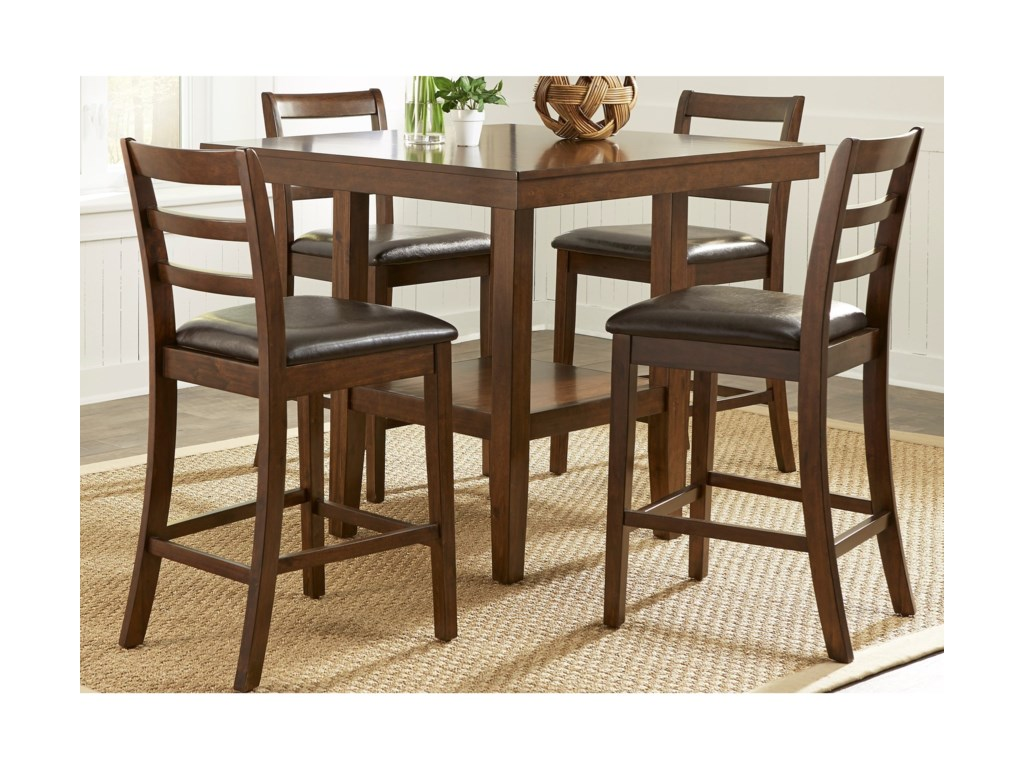 Bradshaw Casual Dining 5 Piece Gathering Table Set By Liberty Furniture At Home Furnishings