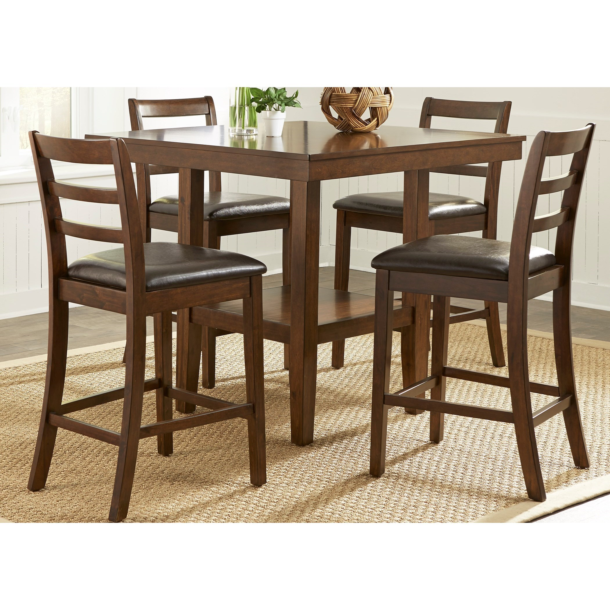 Vendor 5349 Bradshaw Casual Dining5 Piece Gathering Table Set