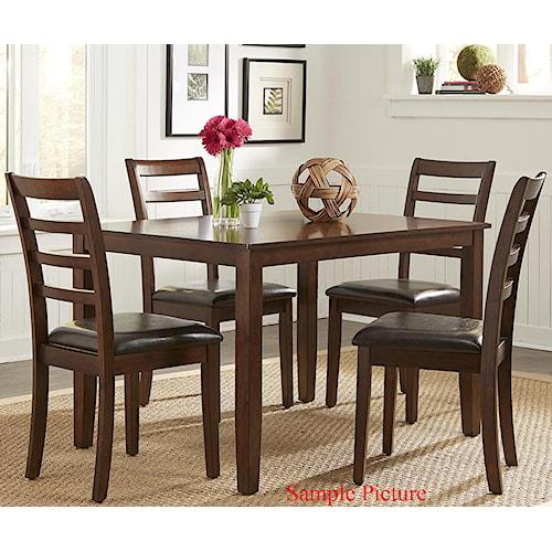 Liberty Furniture Bradshaw Casual Dining 5 Piece Rectangular Leg Table Set