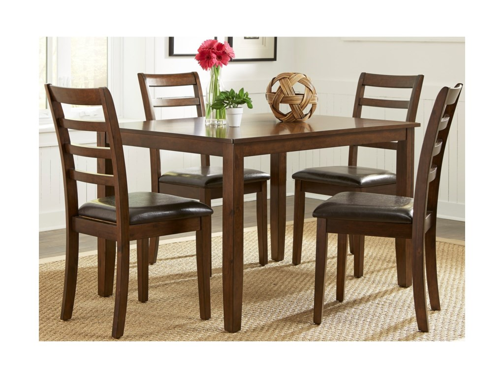 Liberty Furniture Bradshaw Casual Dining5 Piece Rectangular Leg Table Set