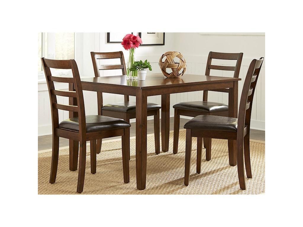 Liberty Furniture Bradshaw Casual Dining5 Piece Rectangular Leg Table Set