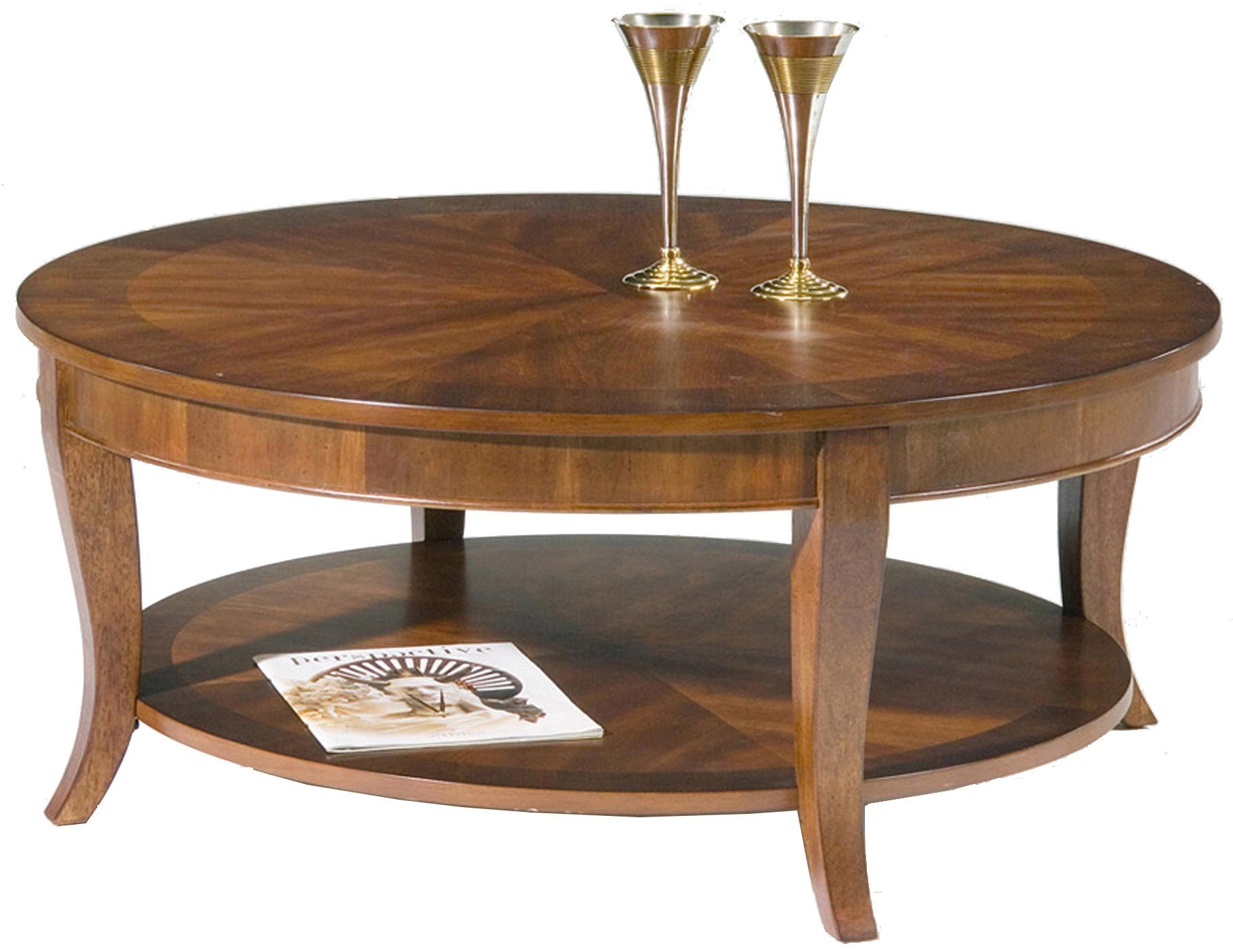 Liberty Furniture Bradshaw Round Cocktail Table With Shelf