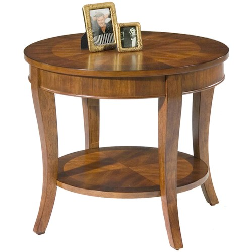 Liberty Furniture Bradshaw Round End Table with Shelf