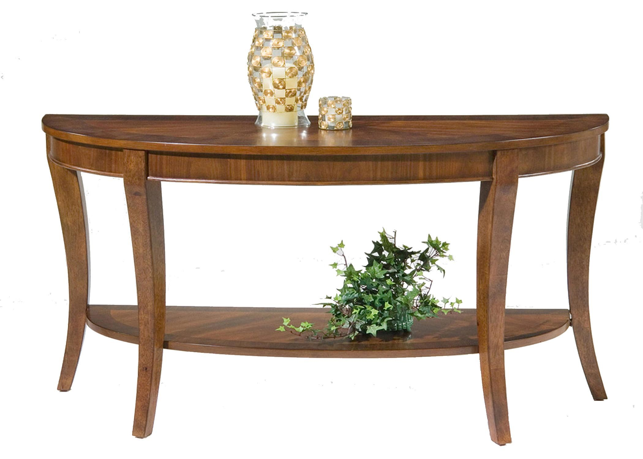 Liberty Furniture Bradshaw Demilune Sofa Table