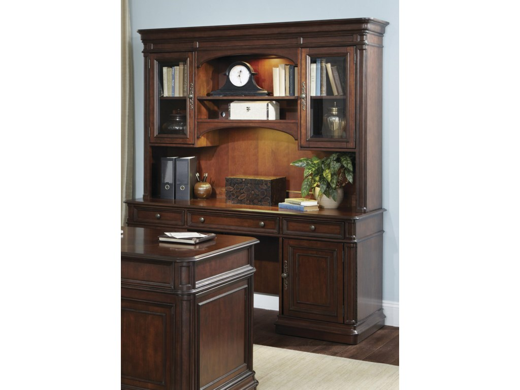 Liberty Furniture Brayton Manor Jr ExecutiveCredenza and Hutch