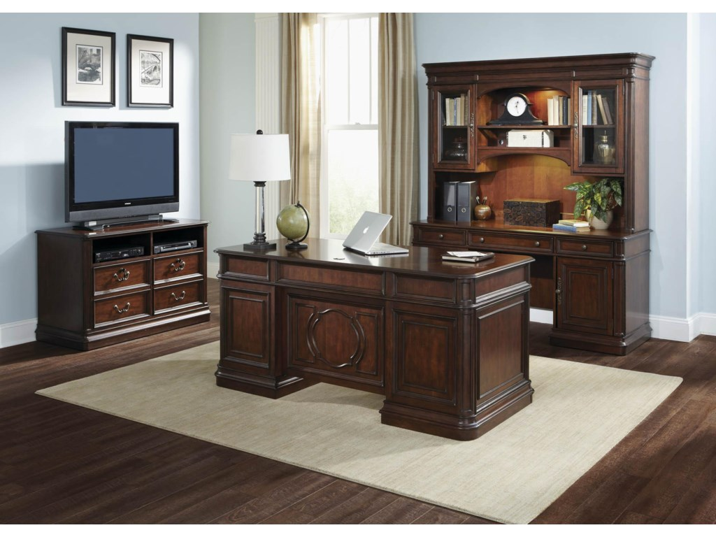 Liberty Furniture Brayton Manor Jr ExecutiveCredenza Hutch
