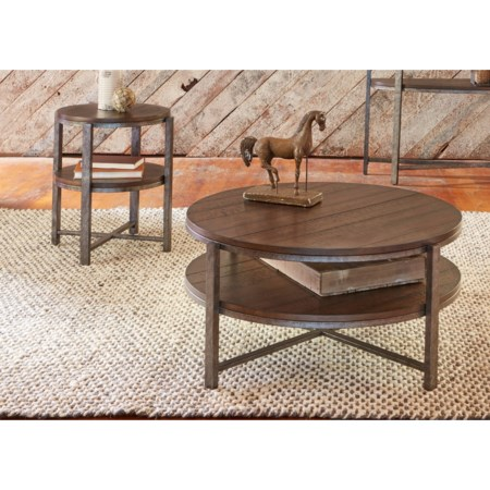 3 Piece Round Occasional Table Set