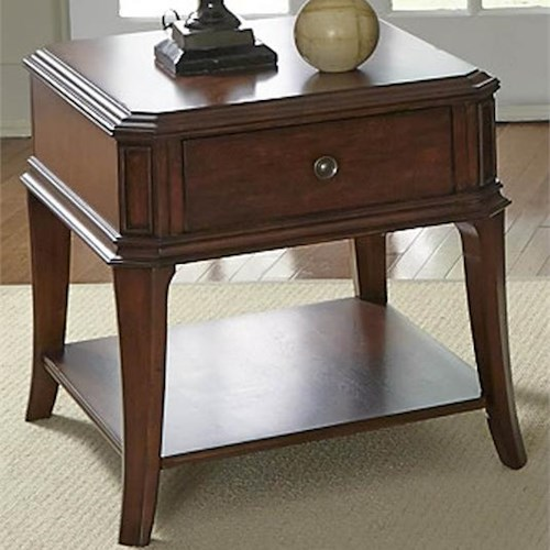 Liberty Furniture Brighton Park Casual End Table with 1 Drawer