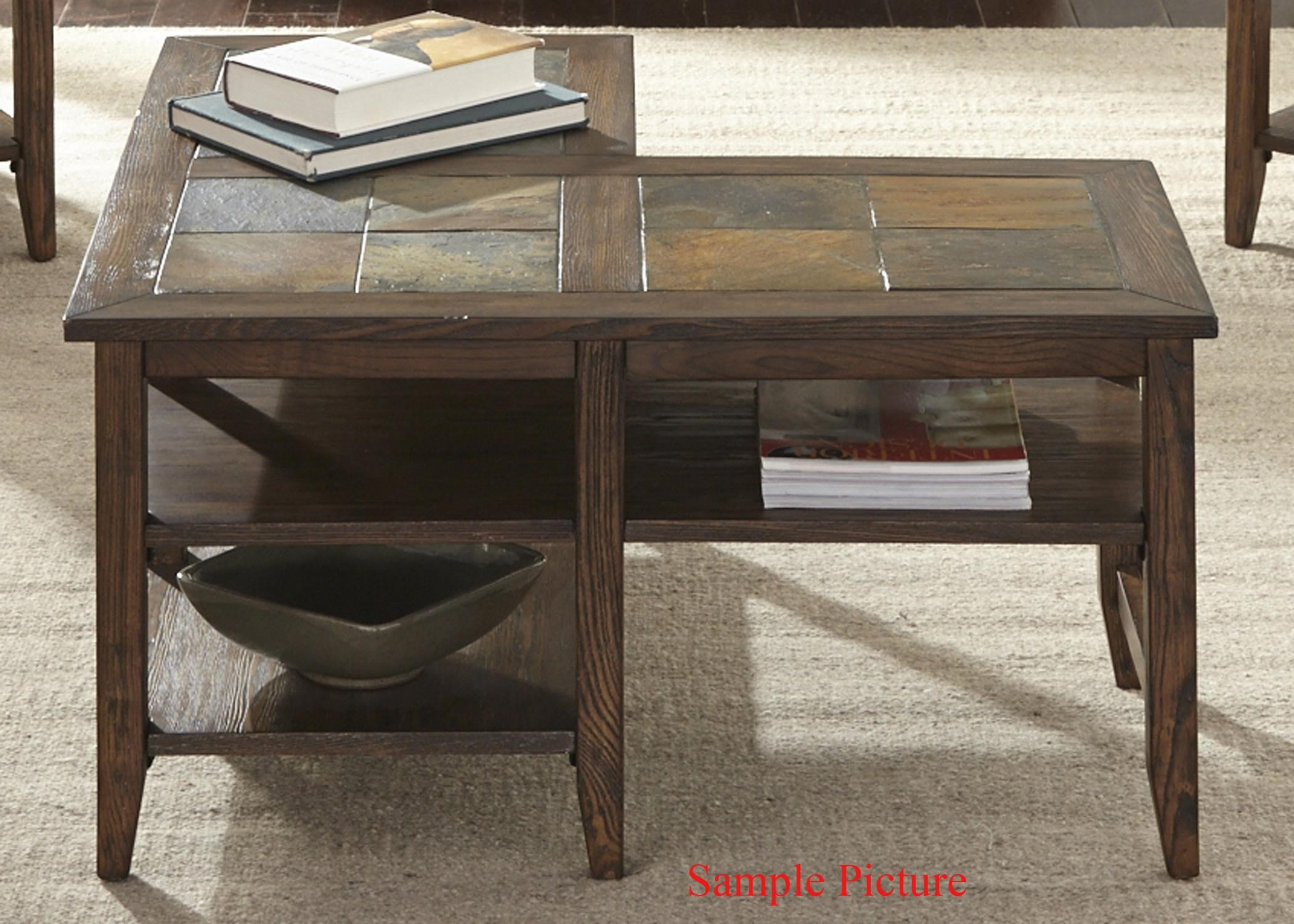 Liberty Furniture Brookstone Transitional L Shaped Cocktail Table