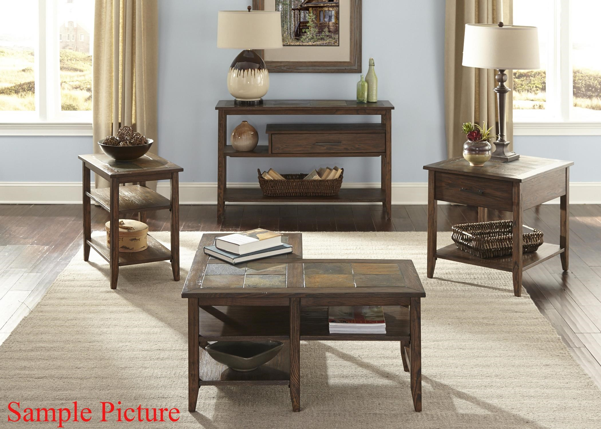Exceptional Liberty Furniture Brookstone Transitional End Table With Drawer
