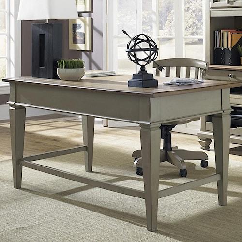 Liberty Furniture Bungalow Jr. Executive Table Desk w/ 2 Drawers