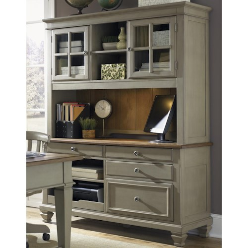 Liberty Furniture Bungalow Jr. Executive Credenza with Hutch