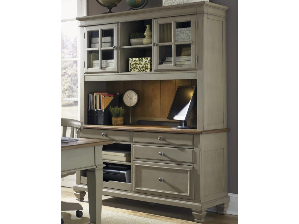 Liberty Furniture BungalowJr Executive Credenza and Hutch