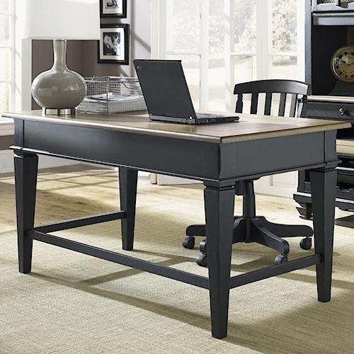 Liberty Furniture Bungalow II Jr. Executive Table Desk w/ 2 Drawers