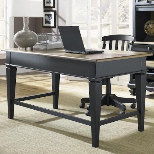 Liberty Furniture Bungalow II Jr. Executive Table Desk w/ 2 Drawers
