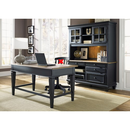 Liberty Furniture Bungalow II 3 Piece Desk & Hutch Set