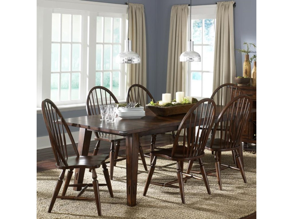 Liberty Furniture Cabin Fever7-Piece Rectangular Leg Table with 6 Chairs