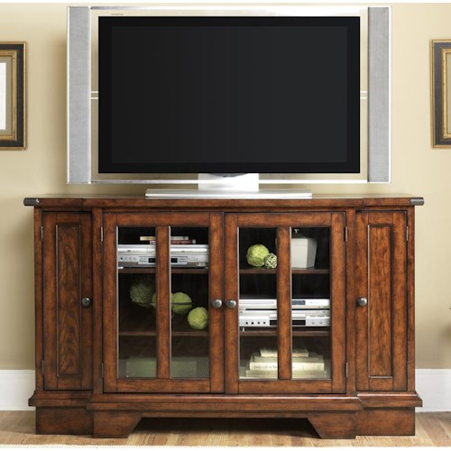 Liberty Furniture Cabin Fever TV Console with DVD Pull Out Storage