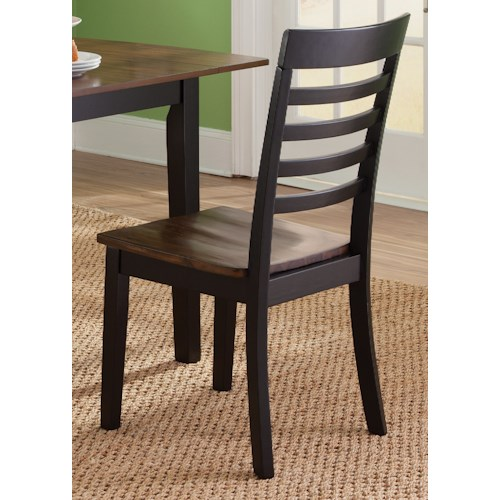 Liberty Furniture Cafe Dining RTA Casual Slat Back Side Chair