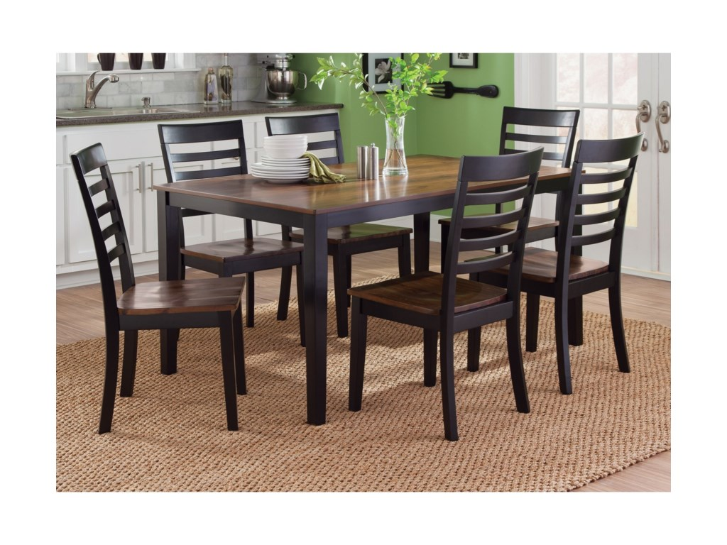 Liberty Furniture Cafe Dining7 Piece Rectangular Table Set