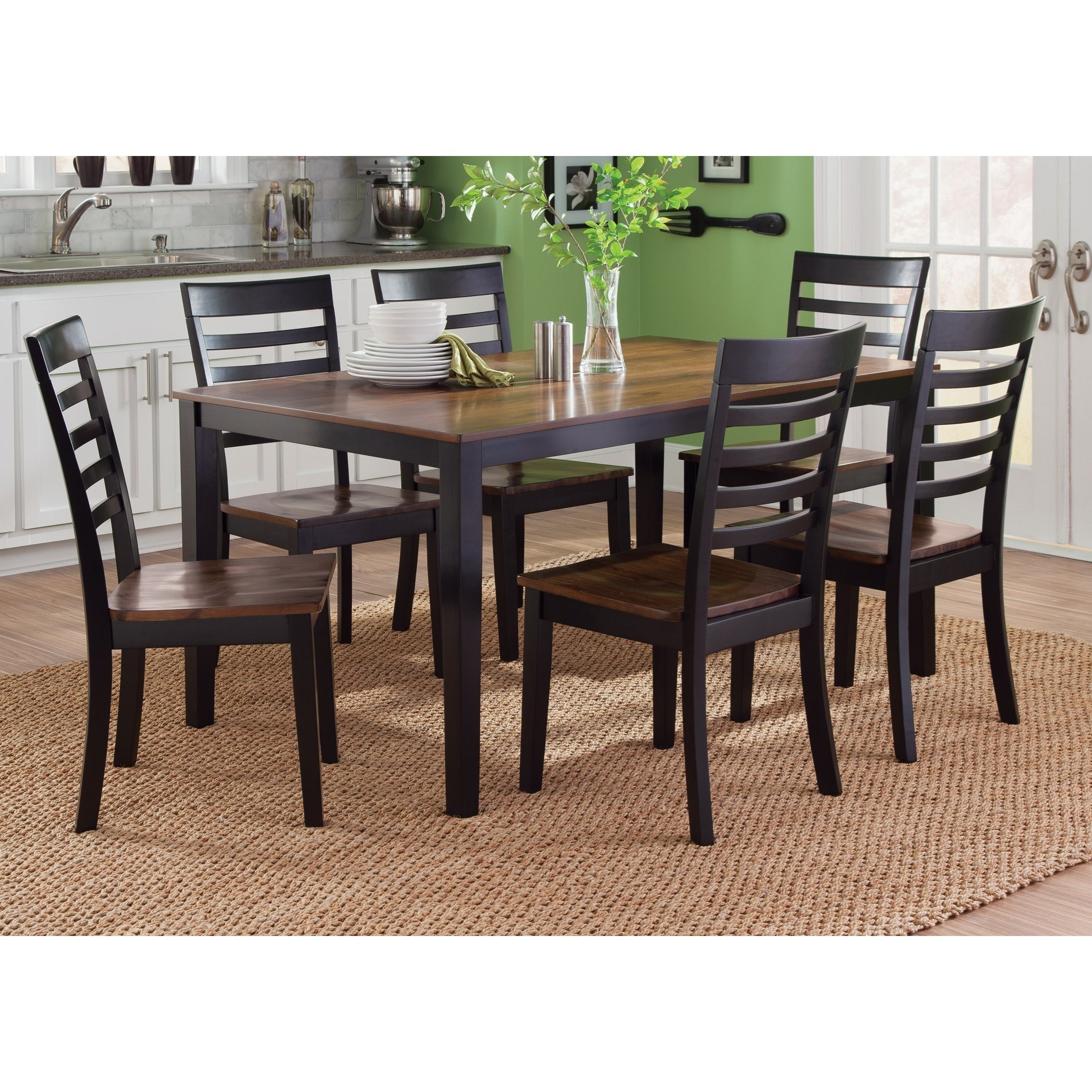 Liberty Furniture Cafe Dining 7 Piece Rectangular Table Set