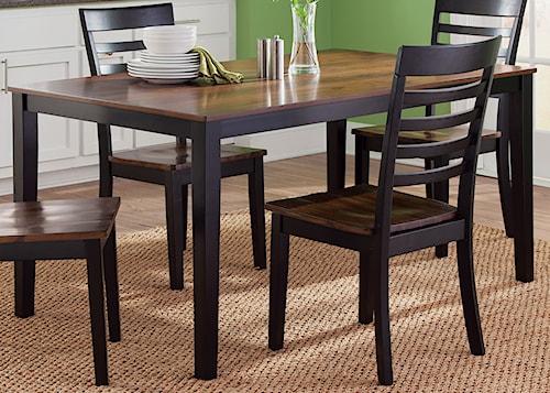 Liberty Furniture Cafe Dining Rectangular Leg Table in Two-Tone Finish