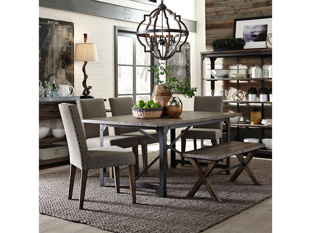 Liberty Furniture Caldwell6 Piece Rectangular Table Set