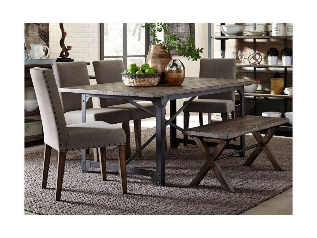 Liberty Furniture CaldwellTable and Chair Set with Bench