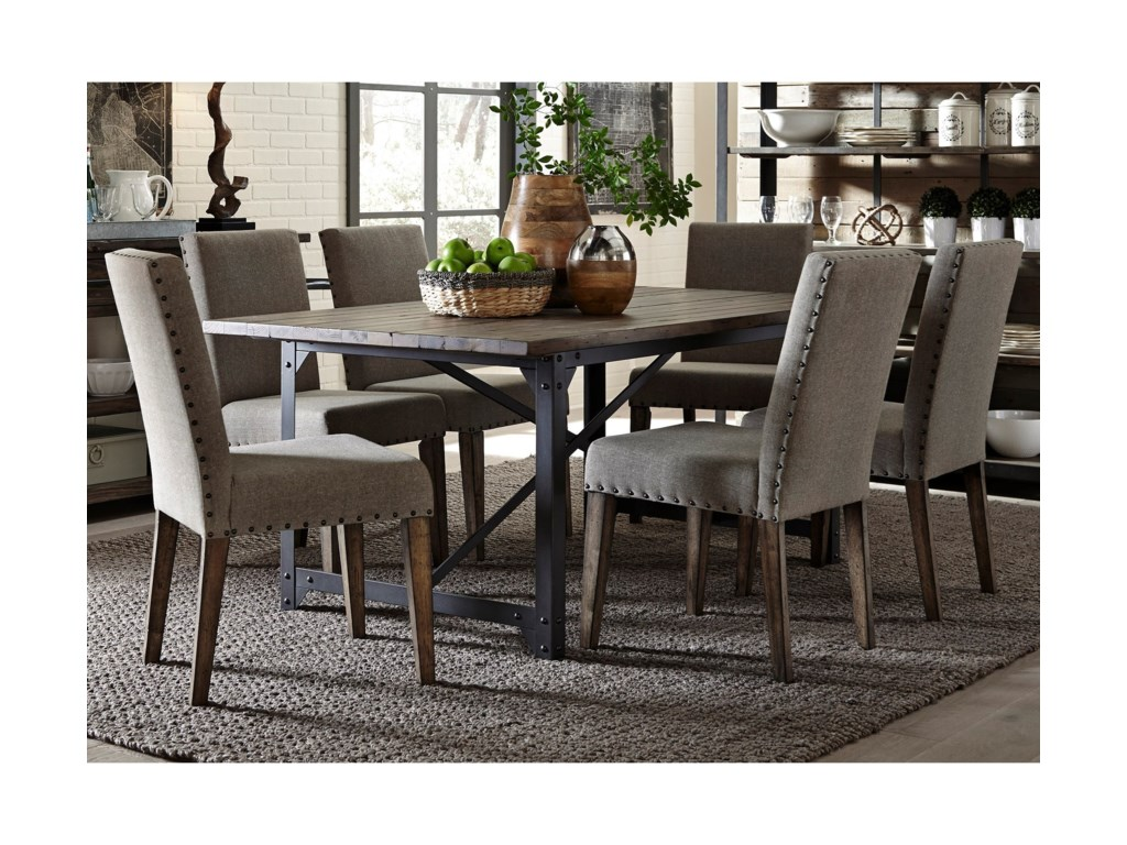 Liberty Furniture CaldwellTable and Upholstered Chair Set