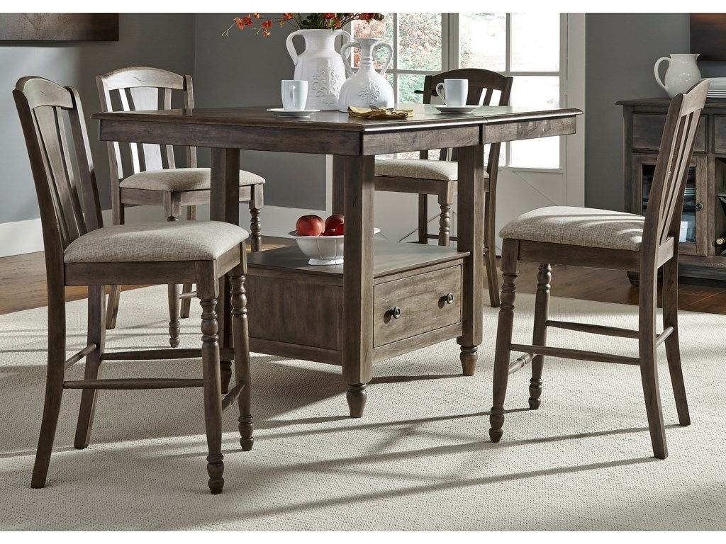 Liberty Furniture Candlewood5 Piece Gathering Table Set