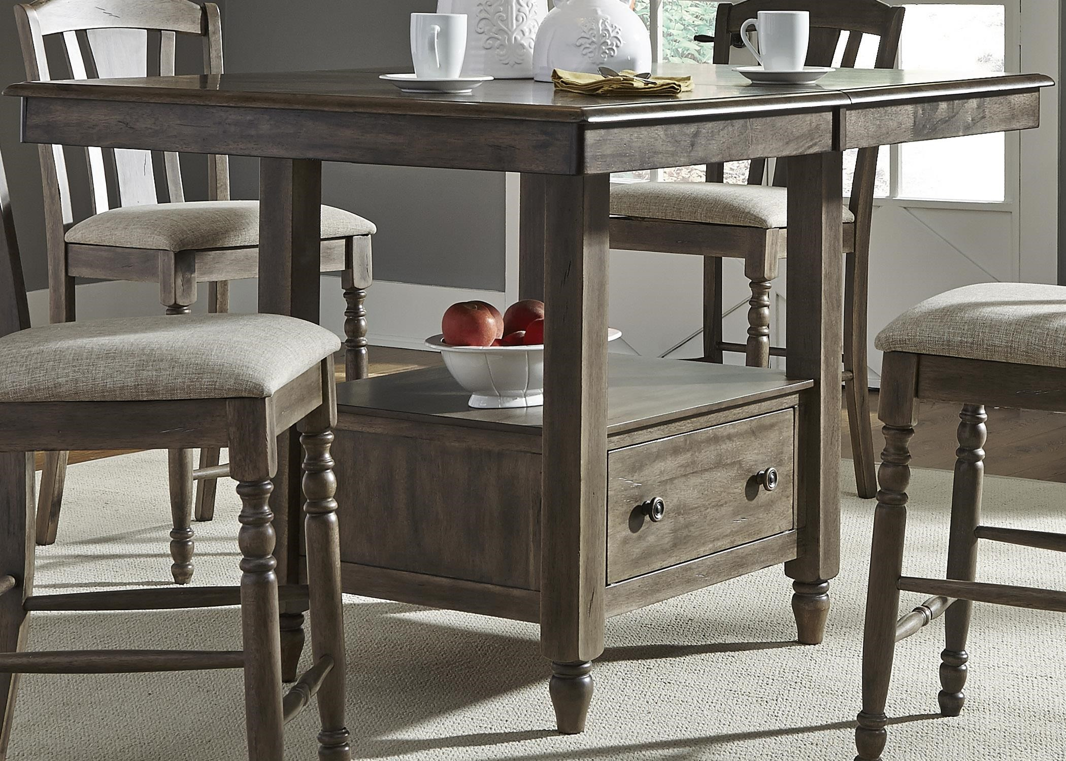 liberty furniture candlewood center island gathering table