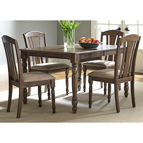 Liberty Furniture Candlewood Casual 5 Piece Rectangular Table Set